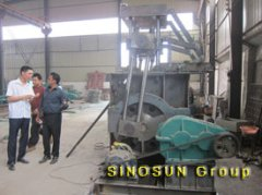 customer visited block making machine factory