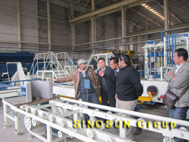 Oman clients visited our block machine