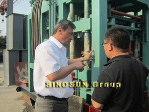 customers visited our block making machine factory